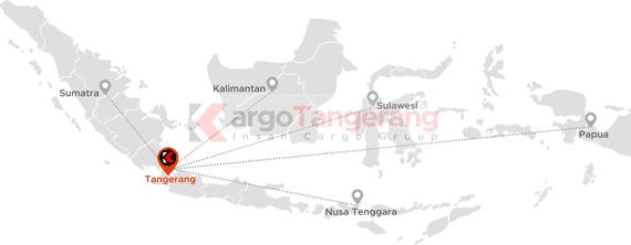 Peta pengiriman kargo tangerang