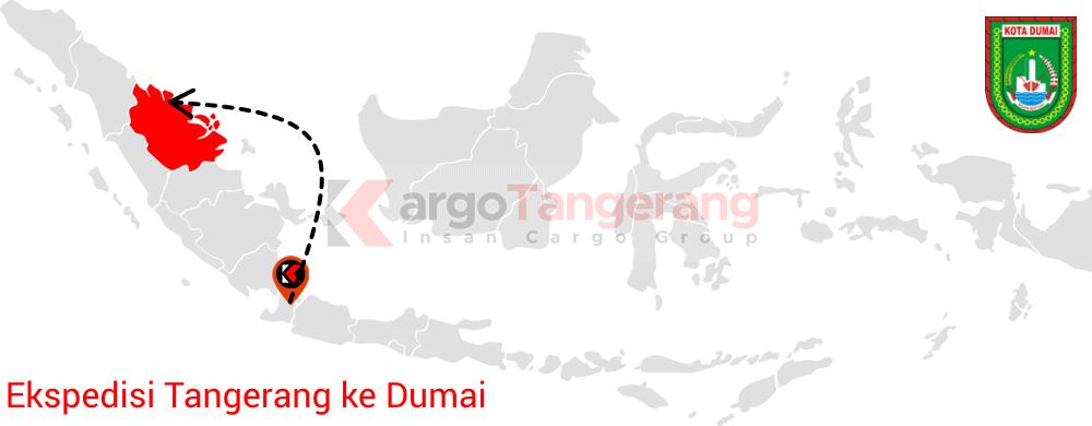 Peta pengiriman kargo Tangerang, Ekspedisi Tangerang ke Dumai