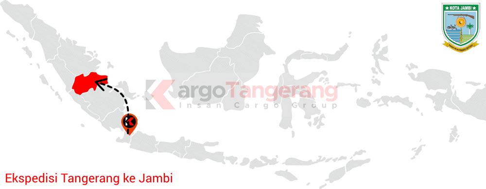 Peta pengiriman kargo Tangerang, Ekspedisi Tangerang ke Jambi