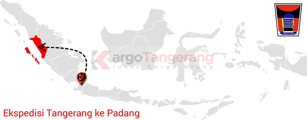 Peta pengiriman kargo Tangerang, Ekspedisi Tangerang ke Padang
