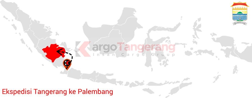 Peta pengiriman kargo Tangerang, Ekspedisi Tangerang ke Palembang