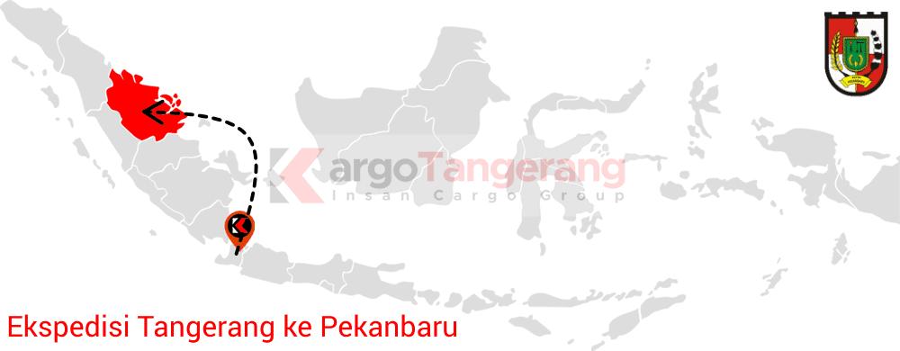 Peta pengiriman kargo Tangerang, Ekspedisi Tangerang ke Pekanbaru