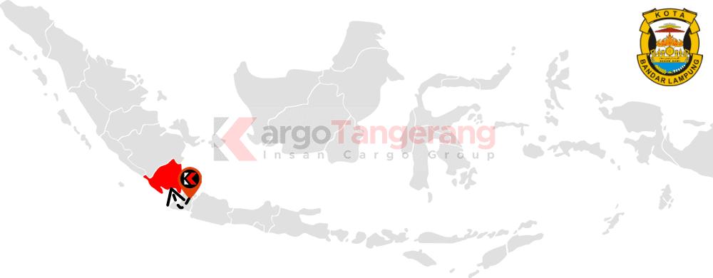 Peta pengiriman kargo Tangerang, Ekspedisi Tangerang ke Bandar Lampung