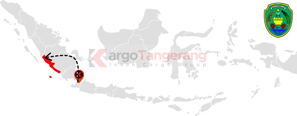 Peta pengiriman kargo Tangerang, Ekspedisi Tangerang ke bengkulu