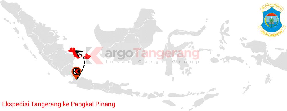 Peta pengiriman kargo Tangerang, Ekspedisi Tangerang ke Pangkal Pinang
