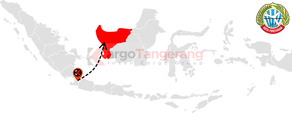 Peta pengiriman kargo Tangerang, Ekspedisi Tangerang ke Pontianak