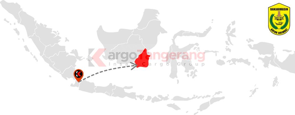 Peta pengiriman kargo Tangerang, Ekspedisi Tangerang ke Banjarmasin