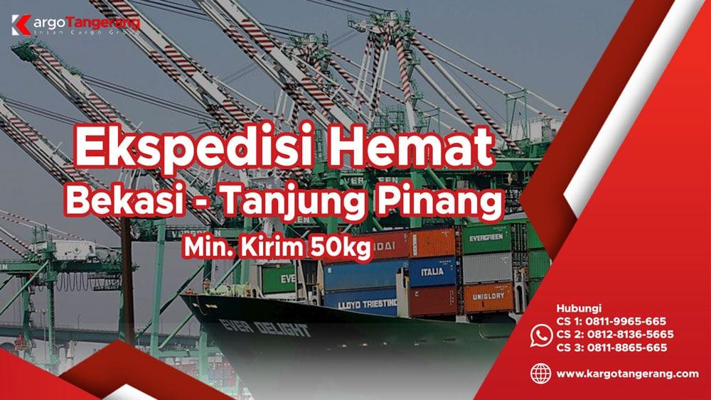 Ekspedisi Bekasi ke Tanjung Pinang Hemat minimal kirim hanya 50kg