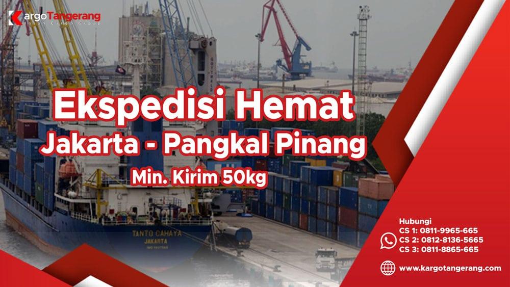 Ekspedisi Jakarta ke Pangkal Pinang Hemat minimal kirim hanya 50kg