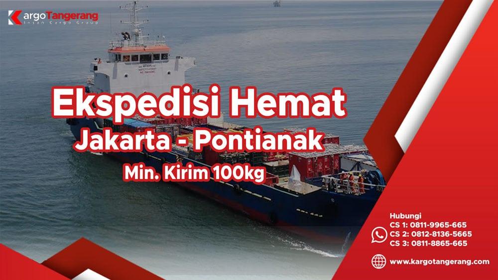 Ekspedisi Jakarta ke Pontianak termurah minimal kirim hanya 100kg