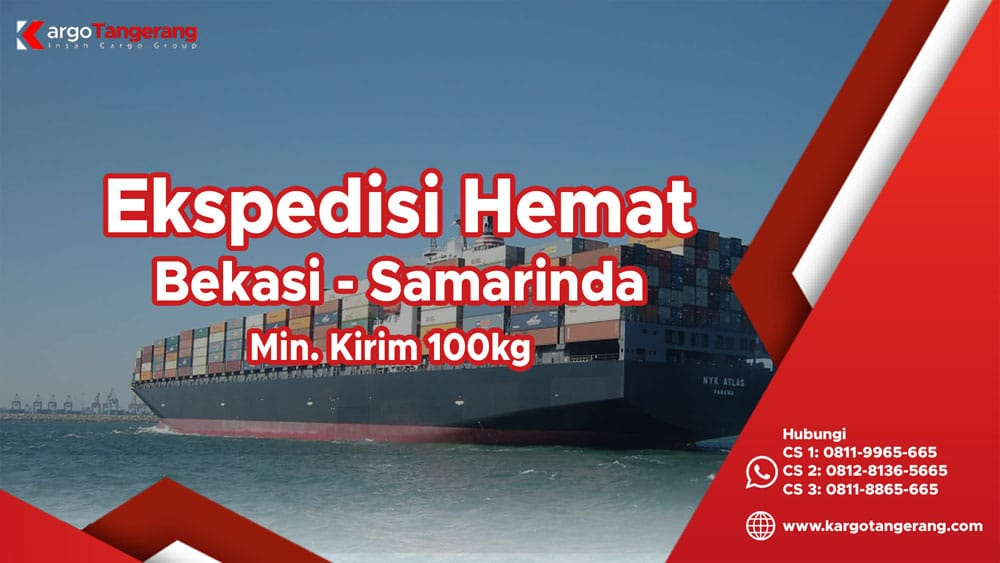 Ekspedisi Bekasi ke Samarinda termurah minimal kirim hanya 100kg