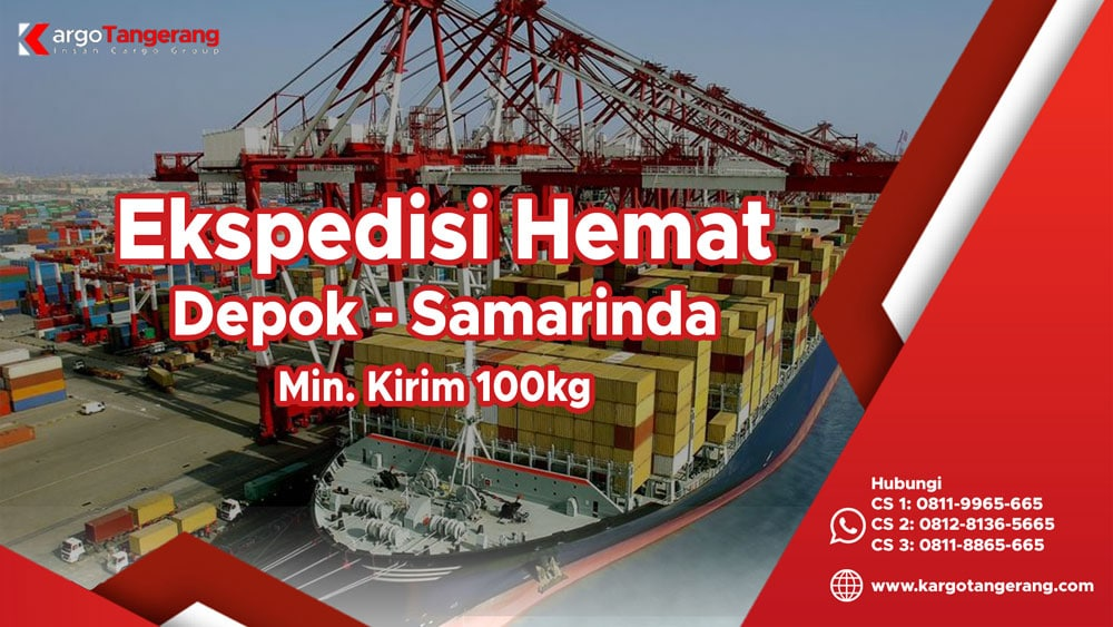 Ekspedisi Depok ke Samarinda termurah minimal kirim hanya 100kg