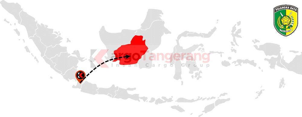 Peta pengiriman kargo Tangerang, Ekspedisi Tangerang ke Palangka Raya